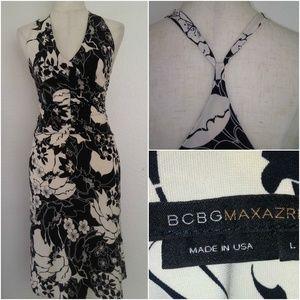 BCBG MAXAZRIA Drop Waist Sun Dress L